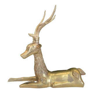 Brass Reindeer Figure For Sale