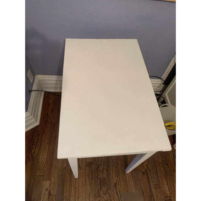 White 1960s Boho Chic Desk Painted in White Chalk Paint For Sale - Image 8 of 13