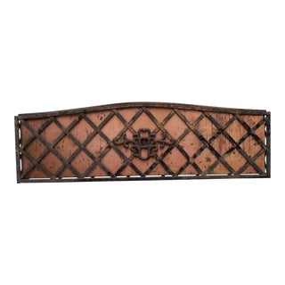 Vintage Metal and Copper Wall Hanging Planter For Sale