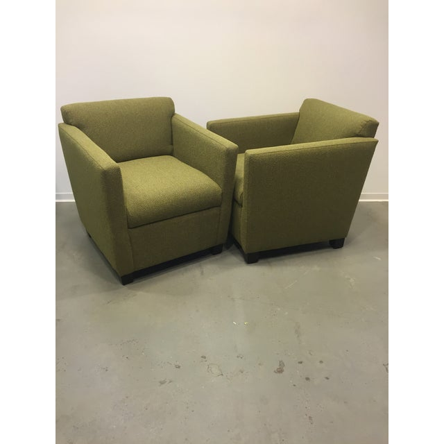 Green Club Chairs - Pair - Image 2 of 7