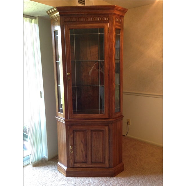 Pennsylvania House Lighted Corner China Cabinet - Image 2 of 6