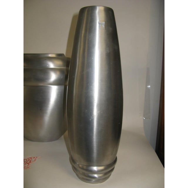 Metal 2003 Kilbarry Ireland Marquis by Waterford Pewter Vases - Set of 3 For Sale - Image 7 of 13