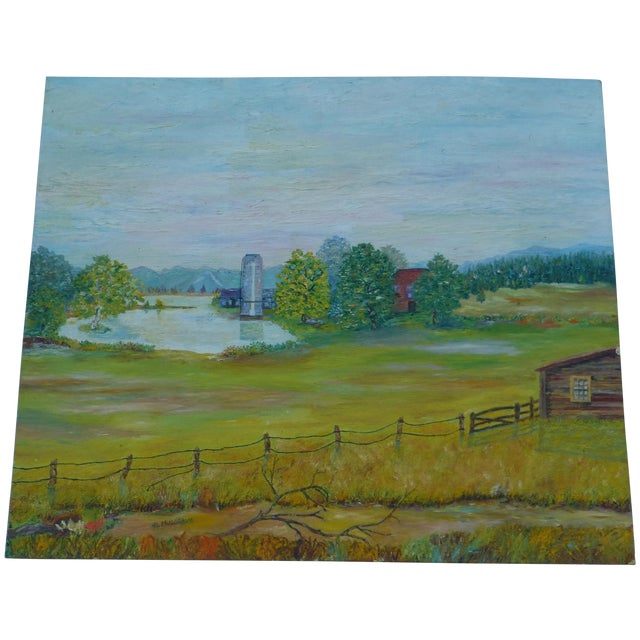 Mid Century Farm Painting by H.L. Musgrave - Image 1 of 7