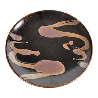 Mashiko Japanese Charger in the Style of Shoji Hamada For Sale