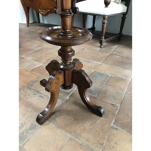 Early 20th Century English Cherry Chess Table For Sale - Image 4 of 7