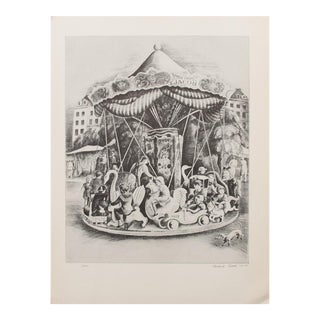 1939 Howard Cook Mary-Go-Round Photogravure