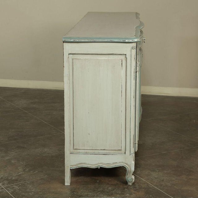 Antique Country French Painted Buffet For Sale - Image 9 of 10