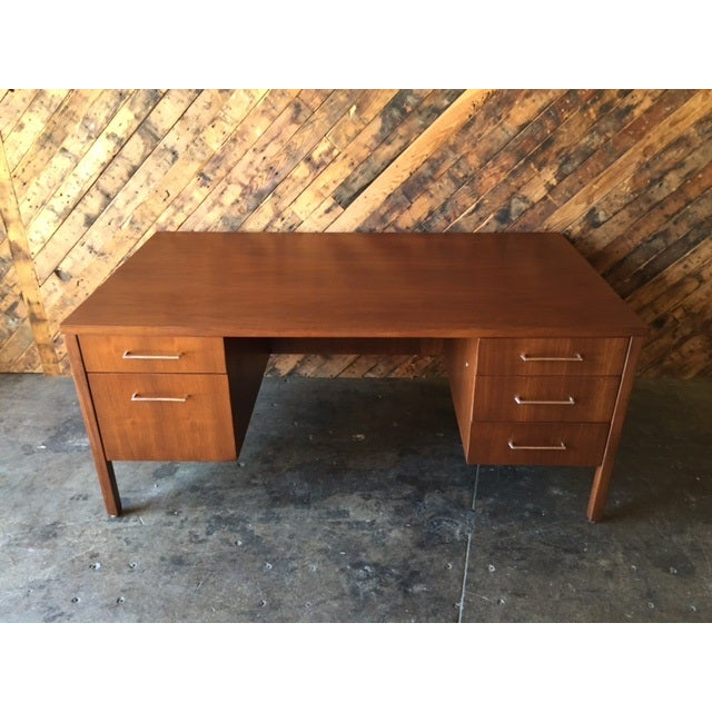 Mid-Century Executive Reception Desk - Image 3 of 6