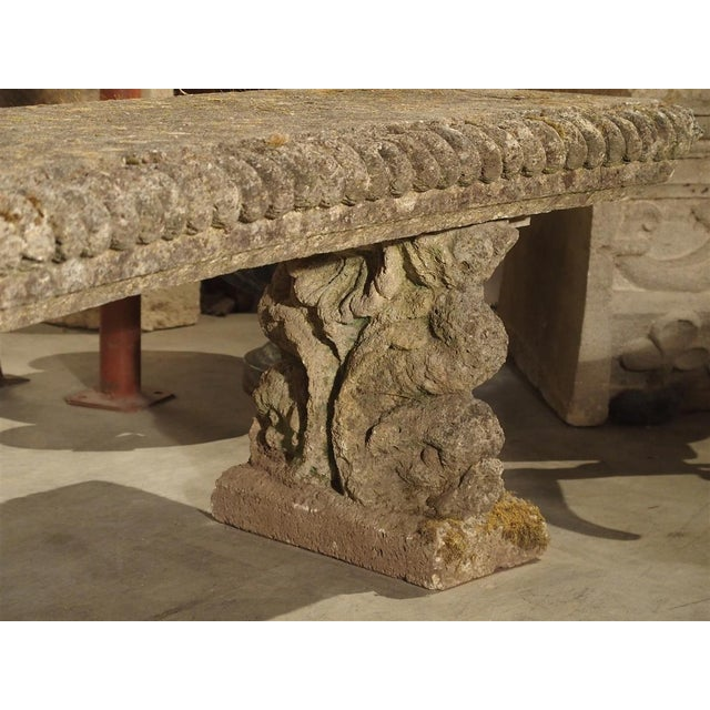 Circa 1900 Reconstituted Stone Dolphins Bench From France For Sale - Image 4 of 13
