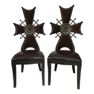 Mailtlin-Smith Custom Maltese Cross Chairs - a Pair For Sale