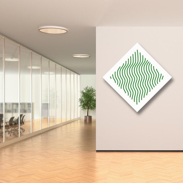Pop Art Chuck Krause Waves (Green), original three dimensional geometric design wall relief 2020 For Sale - Image 3 of 4