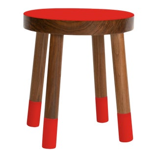 Poco Kids Chair in Walnut With Red Finish For Sale