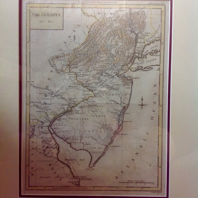 "1788 ""The Jerseys"" Hand Colored Engraved Map - Image 3 of 10"
