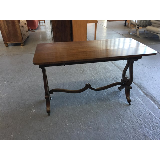 Brown Beacon Hill Console Table Old Colony Collection #304 For Sale - Image 8 of 9