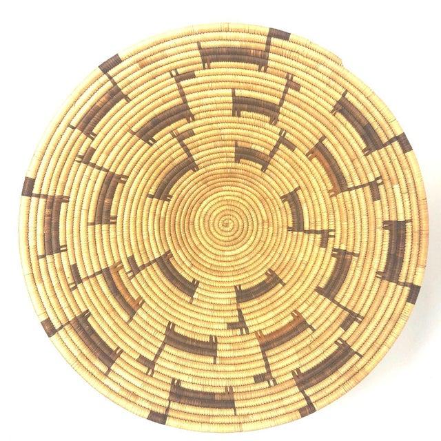 Wicker African Deer Motif Woven Basket For Sale - Image 7 of 10