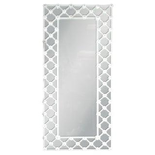 Venetian White Murano Glass Mirror by Fabio Ltd For Sale