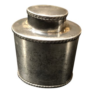 Mid 19th Century Antique Silver Plate Tea Caddy For Sale