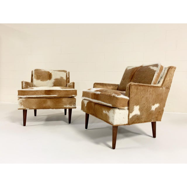 Flair Inc. Lounge Chairs Restored in Brazilian Cowhide - Pair For Sale - Image 4 of 10