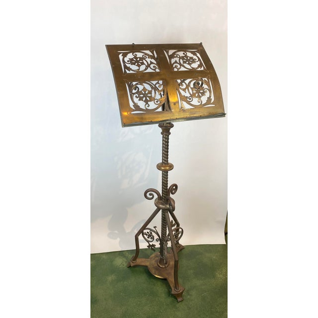 19th Century Brass Music Stand / Lectern For Sale In Los Angeles - Image 6 of 13