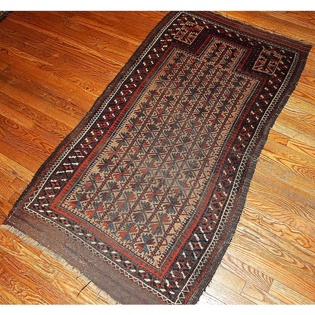 "Antique Turkoman Prayer Baluch Rug - 2'10"" X 5'3"""