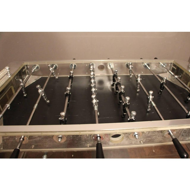 1970s Lucite and Mirror Polished Aluminum Foosball Table For Sale - Image 4 of 12