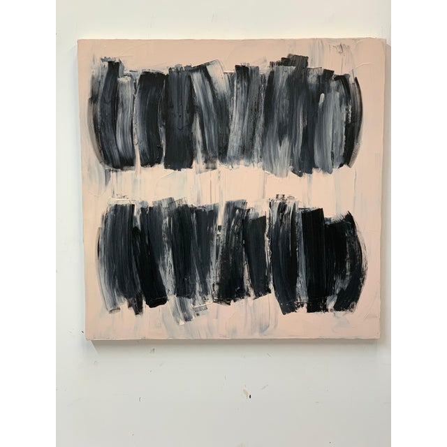 Carolanna Parlato After Melancholia III Abstract Black Beige Painting 2019 For Sale In New York - Image 6 of 6