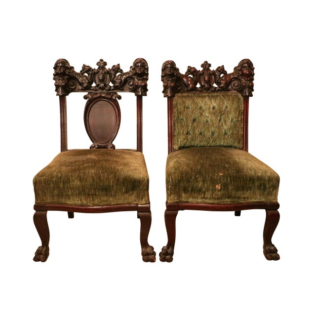 Late 19th Century Antique Late 19th. C Karpen Settee & Side Chairs - the Maiden Suite Set of 3 For Sale - Image 5 of 9