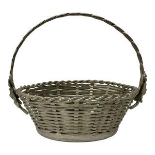 Vintage Metal Woven Basket