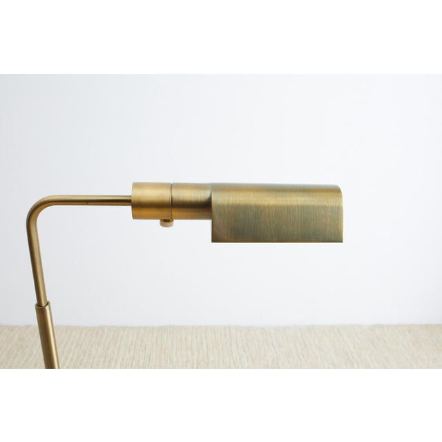 Casella Casella Brass Height Adjustable Pharmacy Floor Lamp For Sale - Image 4 of 12