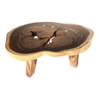 Free-Form Wood Coffee Table For Sale