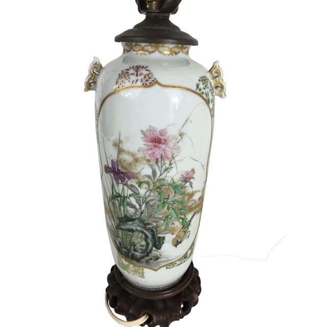 Fine Antique Japanese Porcelain Vase Mounted as a Lamp For Sale In New York - Image 6 of 6
