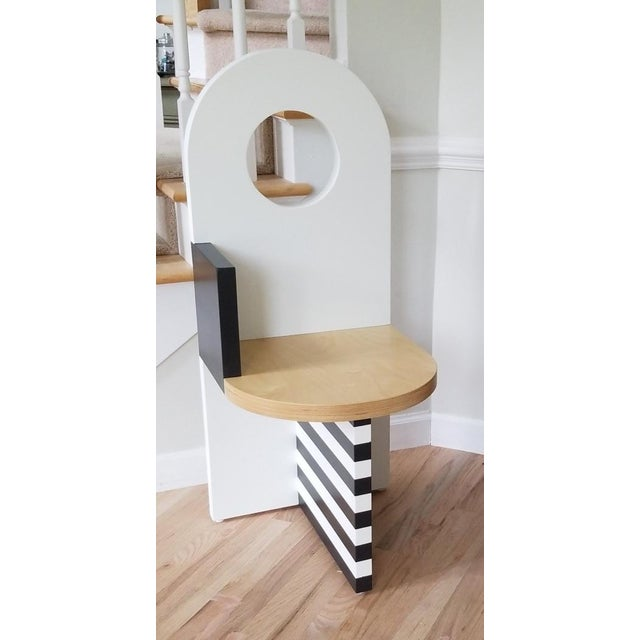 2010s Contemporary Angela Chrusciaki Blehm White Arch Chair For Sale - Image 5 of 5