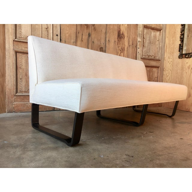 Edward Wormley slipper sofa for Dunbar with ebonized bentwood legs