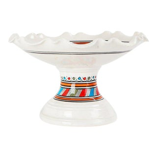 Moroccan Ceramic Coupe Plate For Sale