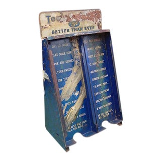 Vintage Candy Rack Display From General Store Counter, Tootsie Rolls For Sale