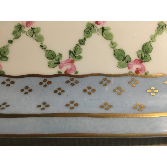 Hand Painted French Porcelain Rectangular Plate - Image 4 of 5