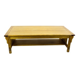 Mid-Century Modern Oak Coffee Table For Sale