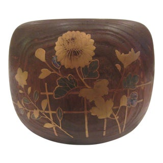 19th Century Japanese Inlaid Hibachi Home Heating Bowl For Sale