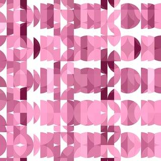 Botanica 'Bougainvillea' Designer Metallic Grass Cloth Wallpaper Roll For Sale