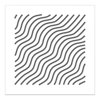 Chuck Krause Waves (Gray), original three dimensional geometric design wall relief 2020 For Sale