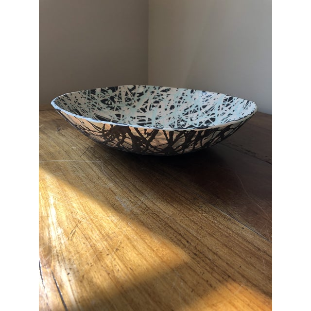 Scandinavian Pollack Style Ceramic Bowl For Sale - Image 9 of 11