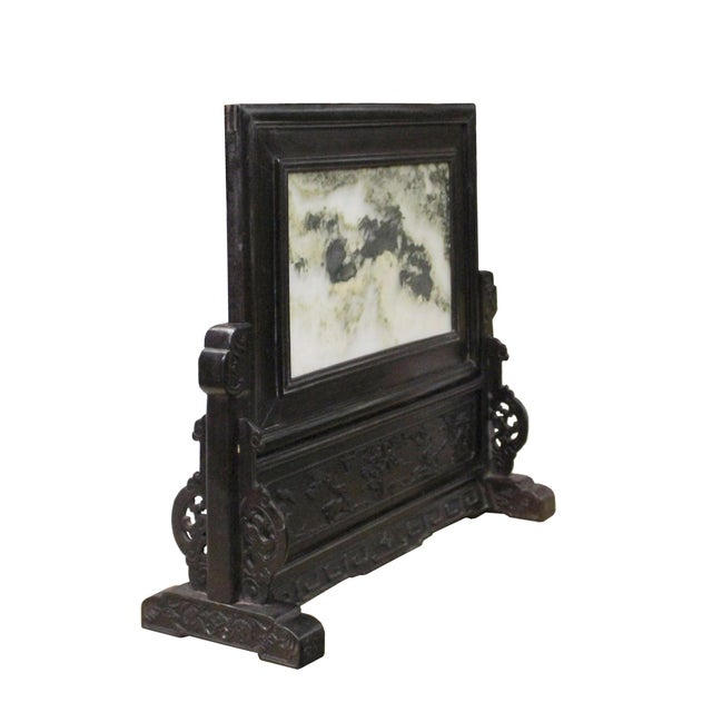 Asian Chinese Dream Stone Fengshui Rectangular Table Top Display Art For Sale - Image 3 of 10
