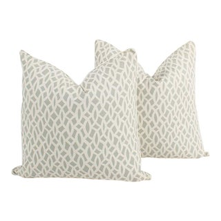 Schumacher Chain Link Pillows, a Pair For Sale