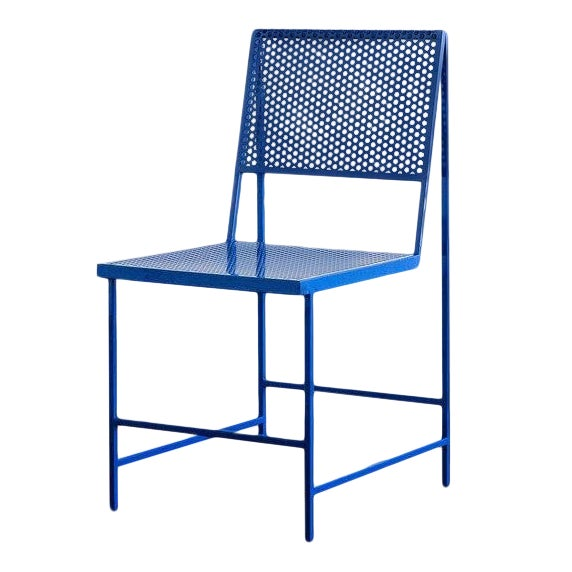 Flux Dining Chair in True Blue For Sale