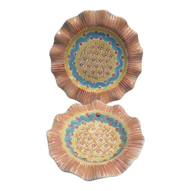 """Victoria & Richard Mac Kenzie Child's """"Summer Frock"""" Plate & Bowl - a Pair For Sale"""