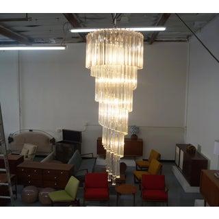 Elegant Spiral Murano Glass Chandelier by Venini Preview