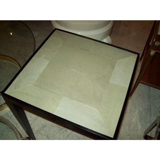 Custom Pair of Handcrafted Shagreen End Tables For Sale - Image 4 of 5