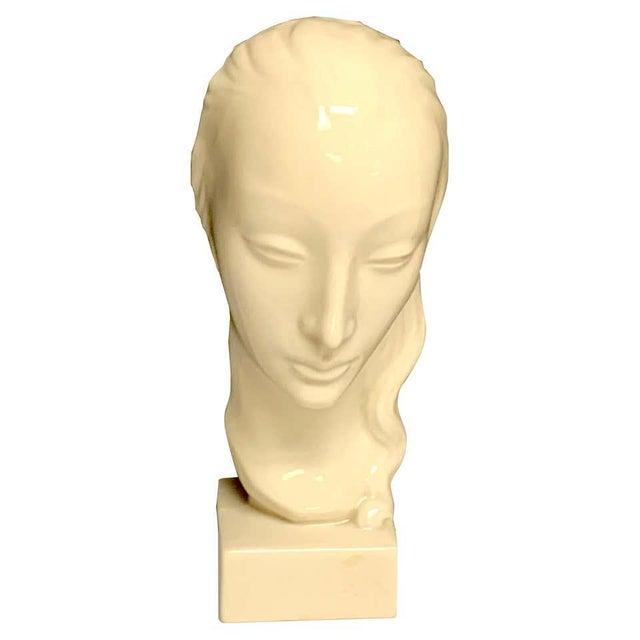 Geza De Vegh for Lenox Art Deco Portrait Bust of a Woman Sculpture For Sale - Image 13 of 13