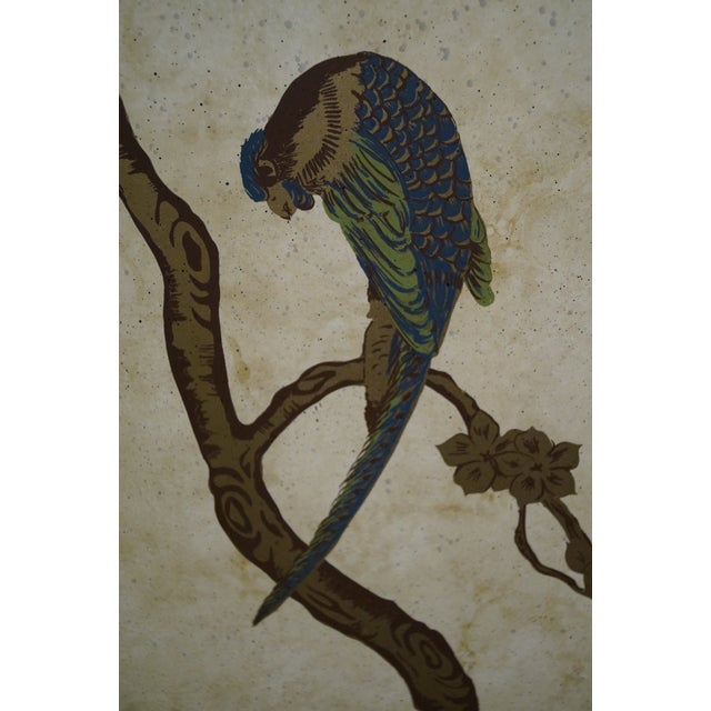Vintage Chinoiserie Painted Folding Screen - Image 6 of 10