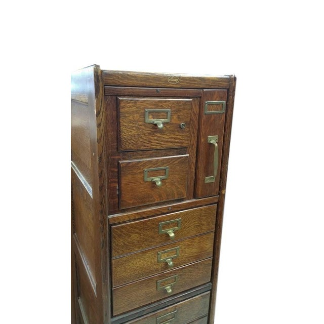 Traditional Macey Antique Standing File Cabinet For Sale - Image 3 of 5